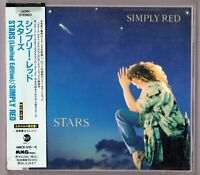 Simply Red 2 CDs STARS 1993 Japan OBI poster AMCE-515~6 Limited Edition fatbox