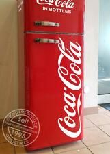 Coca Cola 90cm Aufkleber für Kühlschrank, Kühltruhe Tür ... weiß glanz