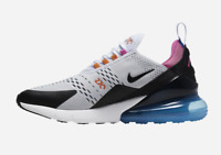 Nike Air Max 270 White Black Blue CW6989-100 Running Shoes Men's Multi Sizes NEW
