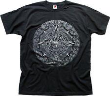 mayan aztec mythical calendar 2012 doomsday black cotton tee t-shirt 0109