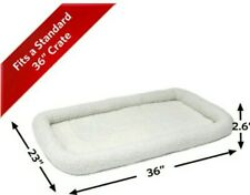 """MidWest Deluxe Bolster Pet Cat Dog Bed Crate Mat, Soft Fleece, fits 36"""" Crate"""