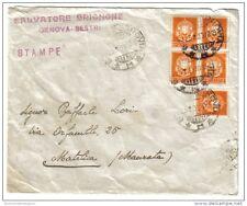 stampe 2 cent imperiale quartina + singolo su busta 1933 non completa C.1731