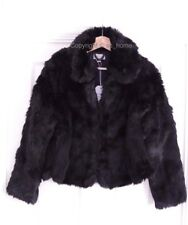 Brand New Jack Wills Bearwood Smart Formal Black Faux Fur Soft Jacket Coat UK 8