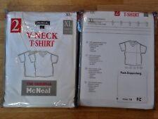 McNeal 2x V-Neck T-Shirt Gr. XL weiß *NEU* TShirt