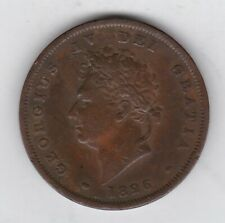 More details for 1826 george iv copper penny in good fine condition