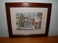 "Vintage 1977 Piazzas in Charleston SC. Sign 2 Fouche Print 10x12"" Framed BIN !!"
