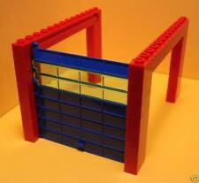 LEGO New Blue and Red Complete Garage Roller Door Assembly Town Fire Police 7-16