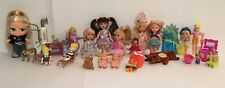 Vtg. Lot 17 Mini Doll 1969 -90 Mattel Upsy Downsy Liddle Kiddles, Bratz, Babies
