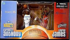 LeBron James Carmelo Anthony  Figure Box Set McFarlane Sports NBA Basketball