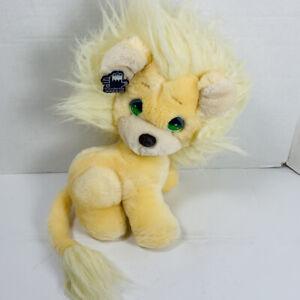 Vintage 1985 APPLAUSE PRECIOUS MOMENTS LEON Yellow Lion STUFFED PLUSH SOFT TOY