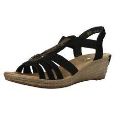 Sandalias y chanclas de mujer Rieker color principal negro