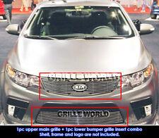 Fits 2010-2012 Kia Forte Koup Billet Grille Combo Insert