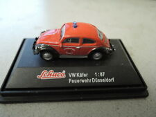 Schuco VW Käfer 1/87 Feuerwehr Düsseldorf guter Zustand in PC Box in OVP