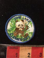 Vtg Miami Florida School Patch PINE LAKE ELEMENTARY - Panda Bear Mascot C77K