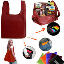 Reusable Shopping Bags Foldable Grocery Machine Washable Waterproof Shoulder Bag