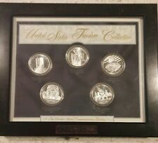 United States Freedom Silver Collection in Custom Wood Display 5 piece