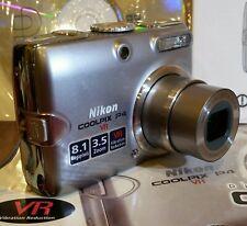 Nikon COOLPIX P4 Digital Camera -8.1mp - Silver - 2xs Batteries       -A1