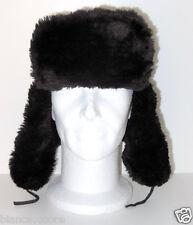 Cappello Pelliccia Ecologica uomo donna aviatore tgl 58 nero colbacco ENTRA G087