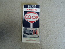 Vintage 1955 Minnesota CO-OP Road Map Farmer's Union