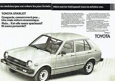 Publicité Advertising 057  1980  Toyota  (2 pages) Starlet  aerobox
