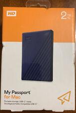 WD Western Digital My Passport 2TB External Portable Storage For Mac (BRAND NEW)