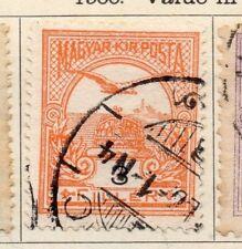 Hungría 1900 antiguo problema Fine Used 3f. 104361