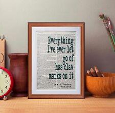 David Foster Wallace cita Diccionario página Art Print-libros regalo literario