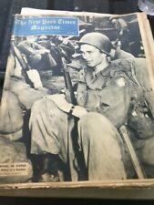 The New York Times Magazine 10/16/1952 Nautilus Submarine & Korean War Soldier