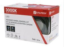 "Utilitech LED 3"" Recessed Gimbal Remodel Kits, Bronze"