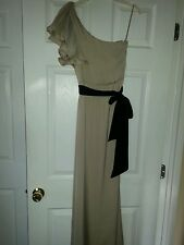 Cocktail Dress bcbg one shoulder champagne color polyester size zero