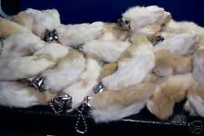 **Natural  color Rabbit's foot key chains!