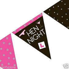 HEN PARTY NIGHT PAPER BRIDAL BASH FLAG BUNTING BANNER DECORATION