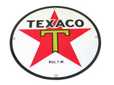 Corvette Decor: Texaco Gas Porcelain Sign