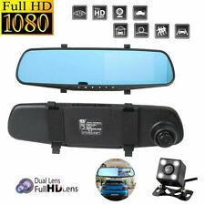 "4.3"" HD 1080P Dual Lens Car DVR Dash Cam Video Camera Recorder+Rearview Mirror"