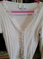 Ice Off White Sweater Blouse