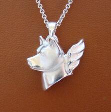 Sterling Silver Akita Angel Pendant