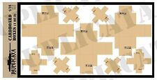 Diorama/Model Accessory- 1/35 Cardboard Boxes w/Labels & Packing Tape (3 sheets)