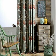 Luxury Blackout Curtains Living Room Bedroom Embroidered Drapes Window Floral