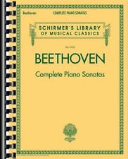 Beethoven Complete Piano Sonatas Sheet Music Schirmer's Library of Mus 050498737