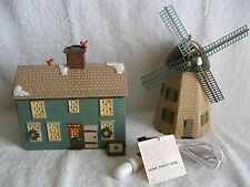 "DEPT 56 - Snow Village - ""HOME SWEET HOME"" HOUSE & WINDMILL - MINT - #51268"
