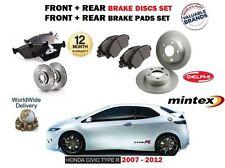 pour Honda Civic Type R 2.0 FN23 2007-2012 AVANT + Disque de frein arrière +