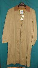 HENRY COTTON'S RAINWEAR/WARM LINING/LEATHER COLLAR  SIZE 50  NEVER WORN/WITH TAG