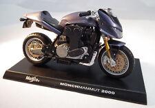 Motorrad Münch Mammut 2000 im Maßstab 1:18 von Maisto mit Standplatte