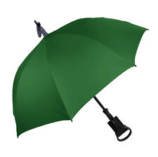 Shooting Stick 'Seat' Umbrella for Outdoors / Spectator - Emerald Green