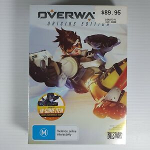 Overwatch Origins Edition PC Game - USED good condition includes notepad & cards
