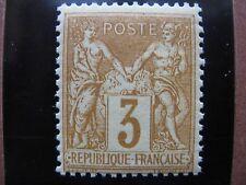 FRANCE neuf  n° 86 SAGE (N sous U) 3 c bistre-jaune LUXE