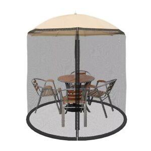 Outdoor Umbrella Screen Bug Mosquito Net Fits 7.5 Ft Umbrellas Adjustable Zipper