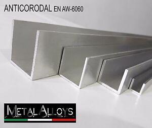 Profilo U Canalina Alluminio da 20 25 30 35 40 45 50  mm IN DIVERSE LUNG. E SP.