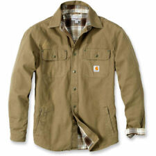 Cotton Outer Shell Brown Coats & Jackets Shirts Jackets for Men