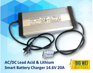 Lithium AC/DC 12V  20AMP Battery Charger (Lithium Iron LiFePO4)